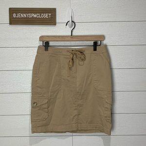 LL Bean Khaki Skirt Size 4P
